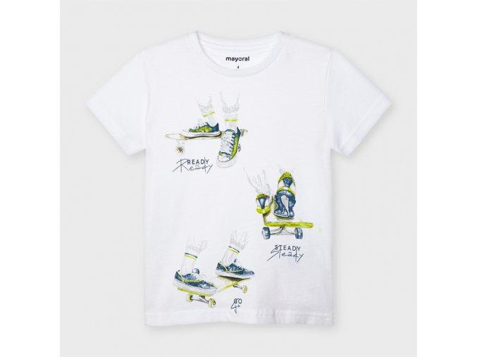 Bílé tričko Mayoral