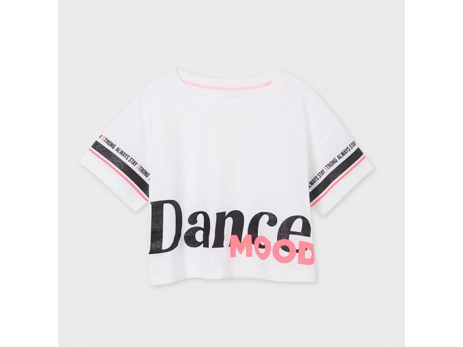 Bílé tričko DANCE