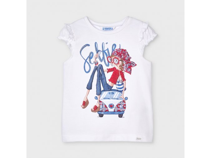 Bílé tričko panenka od Mayoralu