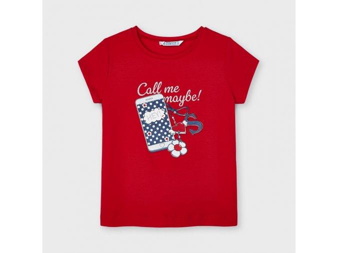 Červené tričko s mobilem Mayoral