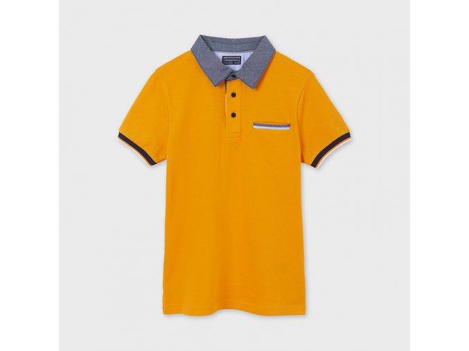Oranžové polotriko / polokošiel Nukutavake