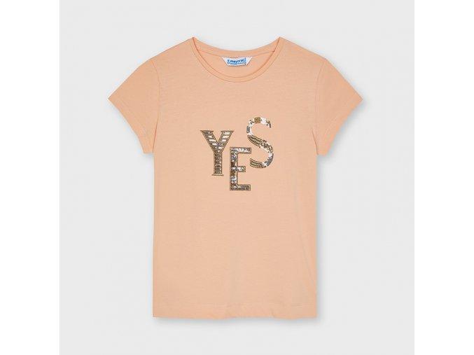 Oranžové tričko YES Mayoral