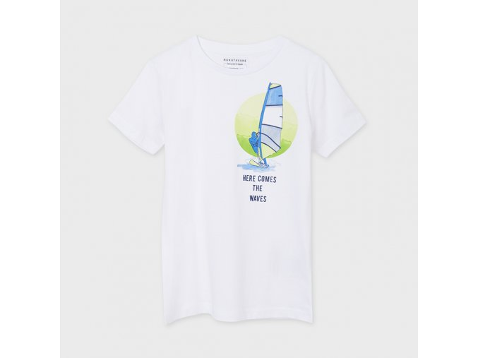 Bílé tričko SURF Nukutavake