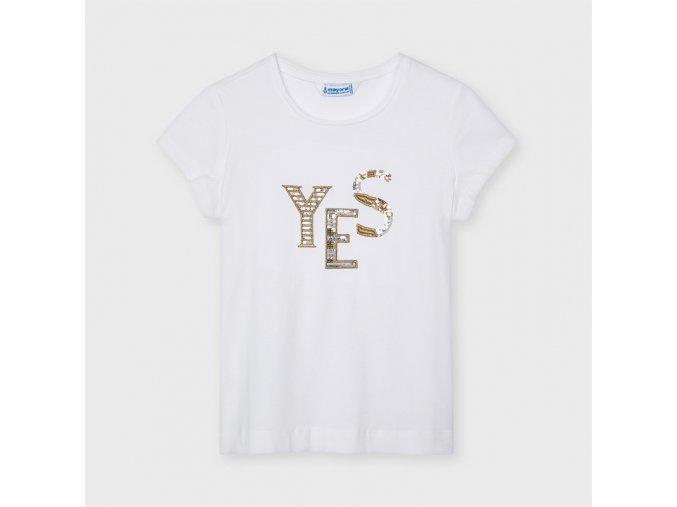 Bílé tričko YES od Mayoralu