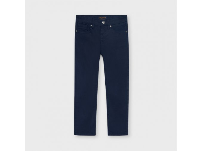 Modré plátěné kalhoty Mayoral SLIM FIT