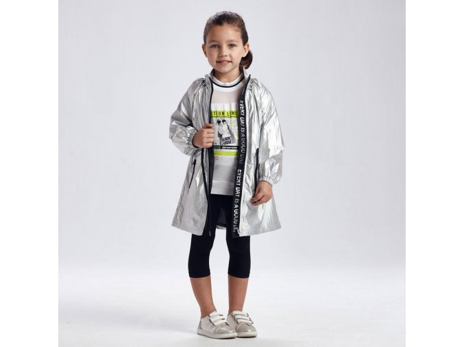 Stříbrná metalická bunda / kabát Mayoral