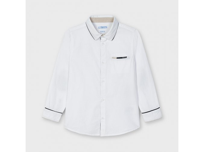 Bílá košile s loketními nášivkami Mayoral