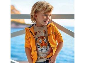 Oranžová mikina tygr Mayoral
