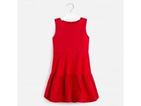 Červené žakárové šaty Mayoral