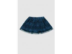 Modrá krajková sukně Boboli