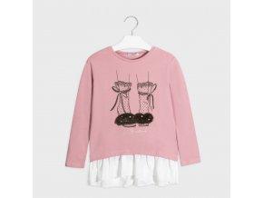 Růžová tunika / delší tričko Mayoral