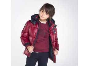 Červená zimní bunda s kapucí Nukutavake