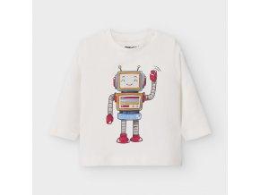 Bílé tričko robot Mayoral