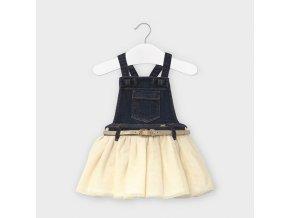Tylová sukně na kšandy s páskem