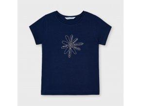 Modré tričko kytka Mayoral