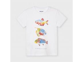 Bílé triko ryby Mayoral