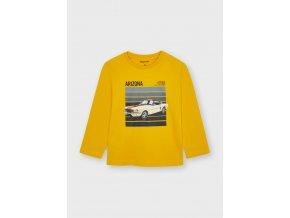 Žluté triko auto Mayoral