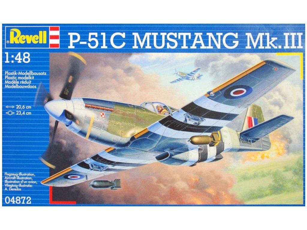 6ec05d08c Revell letadlo P-51C Mustang Mk.III 1:48 04872 - MODELAŘÍM.CZ