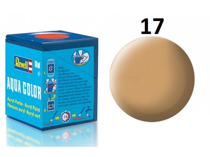 Revell barva akrylová - 36117: matná africká hnědá (africa brown mat)