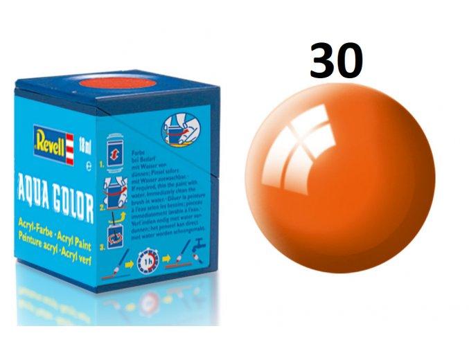 Revell barva akrylová - 36130: leská oranžová (orange gloss)