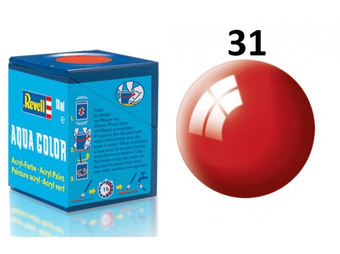 Revell barva akrylová - 36131: lesklá ohnivě rudá (fiery red gloss)