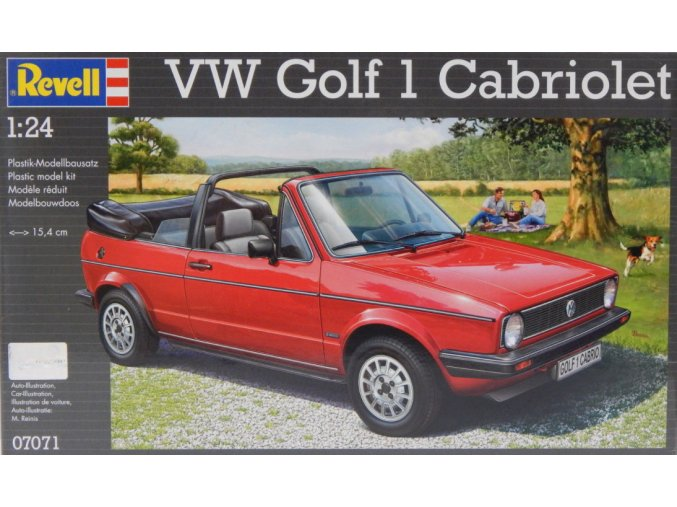 Revell auto VW Golf 1 Cabriolet 1:24 07071