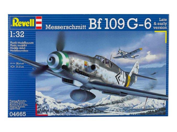 Revell letadlo Messerschmitt Bf109 G-6 Late & Early Version 1:32 04665