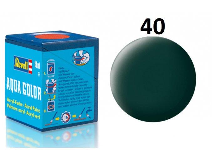 Revell barva akrylová - 36140: matná černozelená (black-green mat)