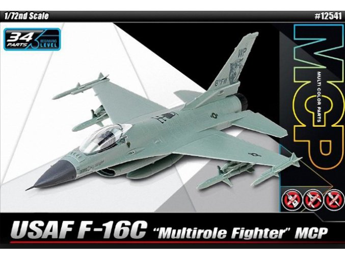 Academy letadlo F-16C Quick Build 1:72 12541