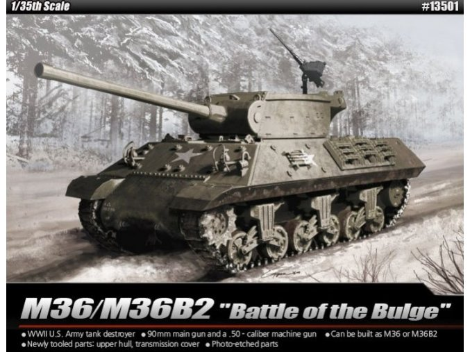 Academy tank M36B2 US Army  Battle of the Bulge 1:35 13501
