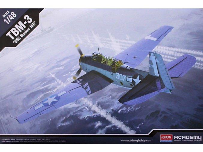 Academy letadlo TBM-3 USS Bunker Hill 1:48 12285