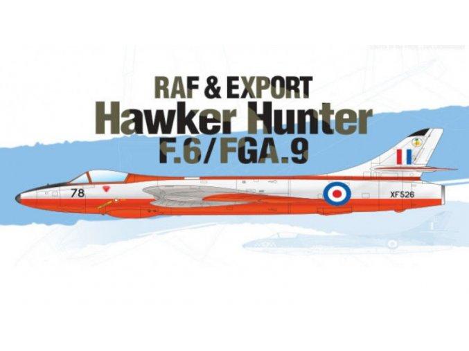 Academy letadlo Hunter F.6/FGA.9 RAF 1:48 12312