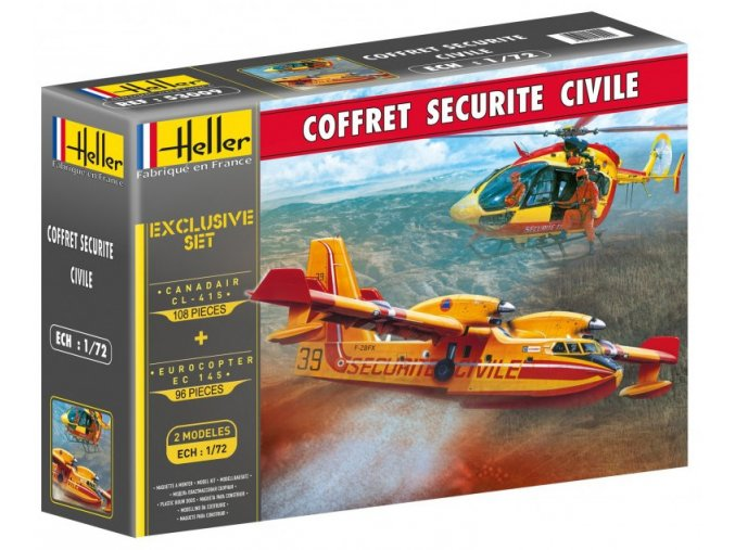 Heller Canadair CL-415 a Eurocopter EC 145 model-set 1:72 53009