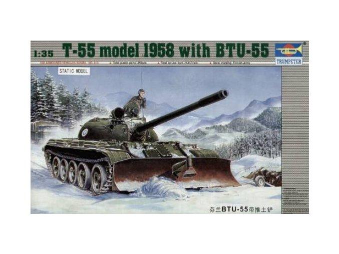 Trumpeter tank Russischer Panzer T55 mit BTU-55 1:35 00313