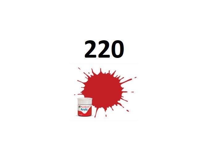 Humbrol barva akryl 220 Racing Red - Gloss