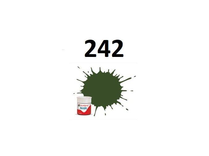 Humbrol barva akryl 242 RLM 71 Dunkelgrun - Matt