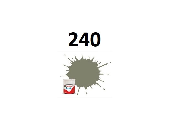 Humbrol barva akryl 240 RLM 02 Grau - Matt
