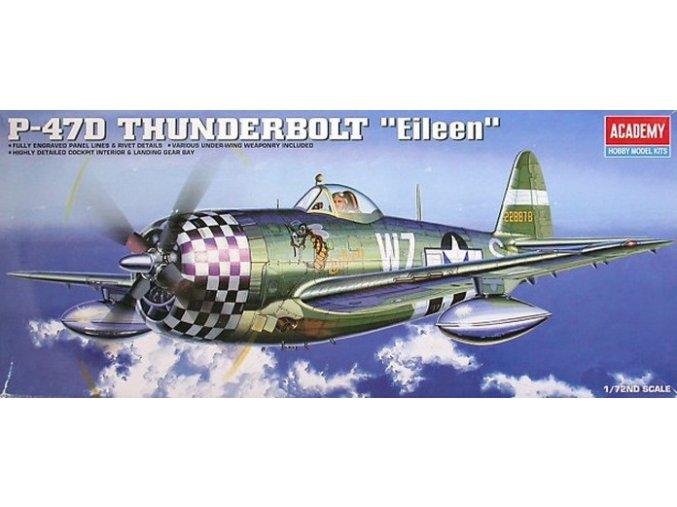 Academy letadlo P-47D Thunderbolt Eileen 1:72 12474