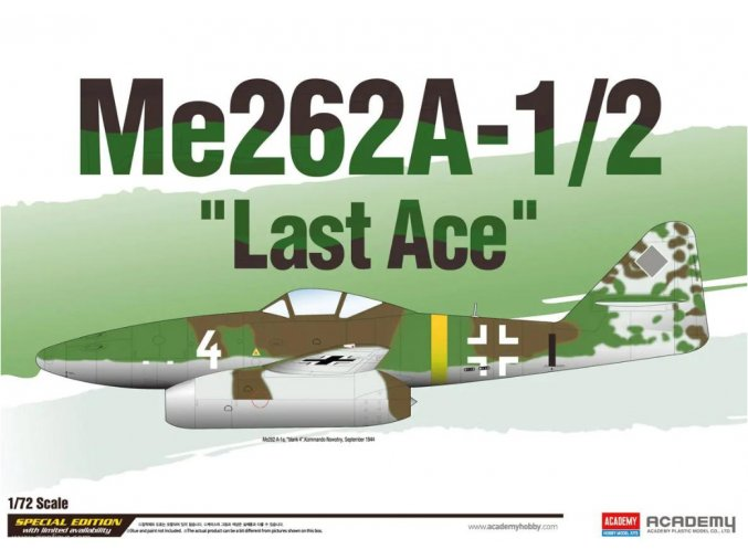 Academy letadlo Me262A-1/2 Last Ace 1:72 12542