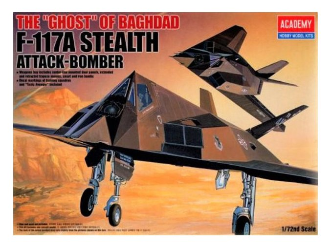 Academy letadlo Lockheed F-117 1:72 12475
