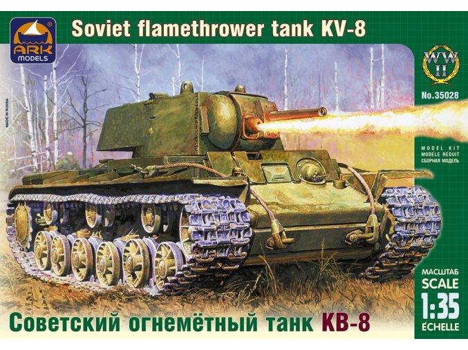 ARK Models KV-8 Russian heavy flamethrower tank 1:35 35028