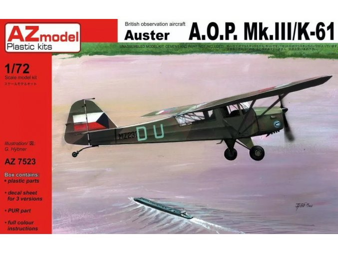 AZ model AUSTER AOP.MK.III/K-61 1:72 AZ7523
