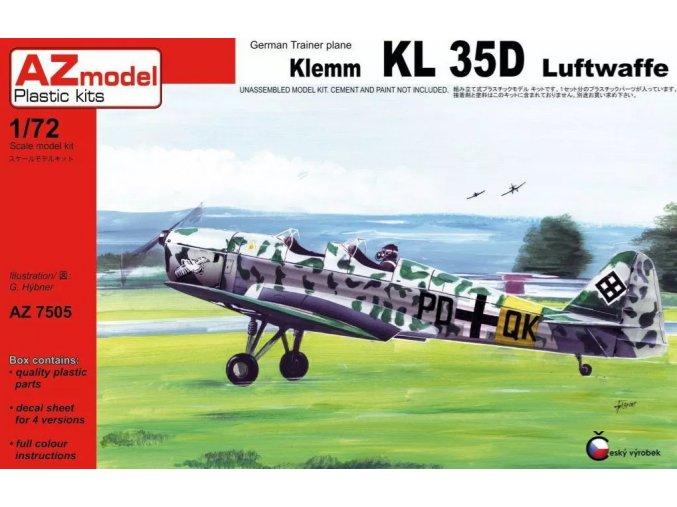 AZ model Klemm KL 35D Luftwaffe 1:72 AZ 7505