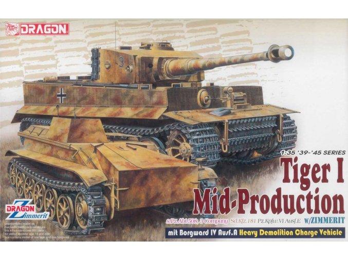 Dragon Pz.Kpfw.VI Ausf.E Tiger I Mid Production Remote Controller mit Borgward Ausf.A Heavy Demolition Vehicle s.Pz.Abt. 508, C Company 1:35 6866