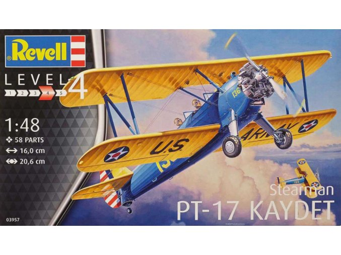 Revell letadlo Stearman P-17 Kaydet 1:48 03957