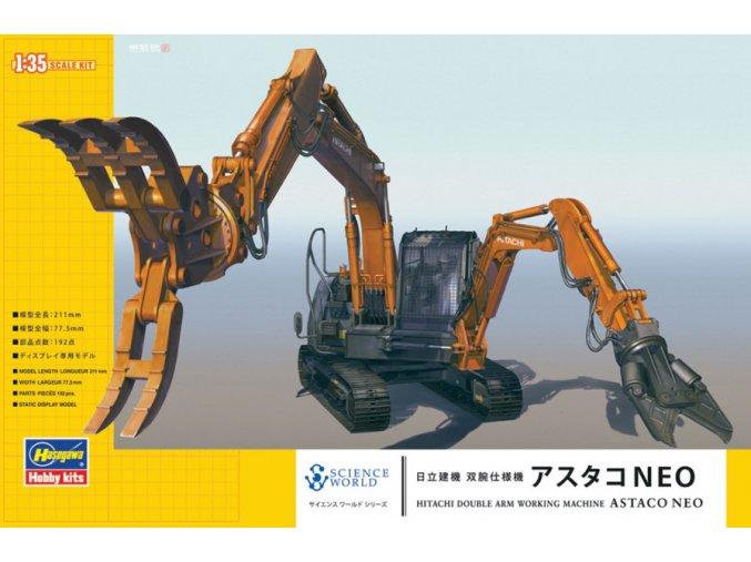 Hasegawa Hitachi Double Arm Working Machine ASTACO NEO 1:35 54004