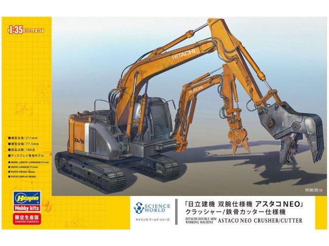 Hasegawa Hitachi Astaco Neo Crusher/Steel Cutter 1:35 52161