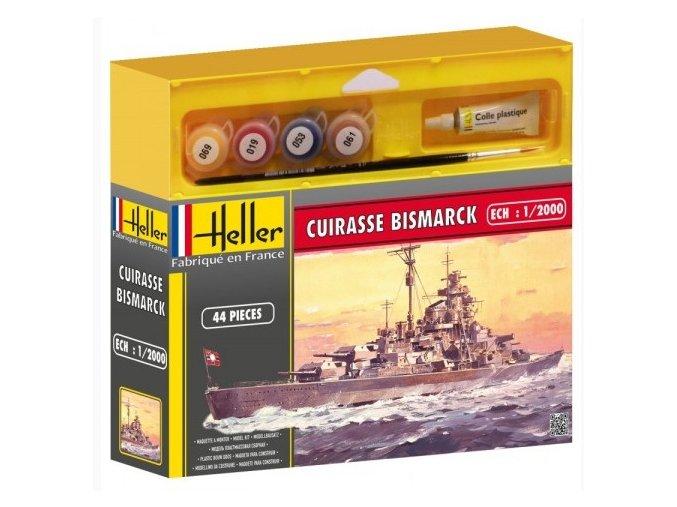 Heller CUIRASSE BISMARCK model set 1:2000 49051