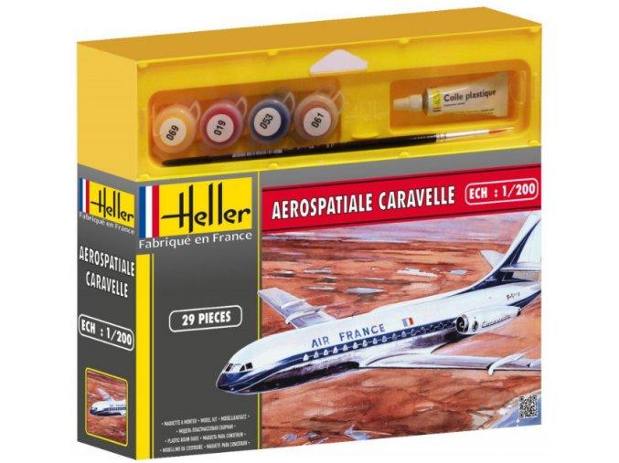Heller AEROSPATIALE CARAVELLE model set 1:200 49074