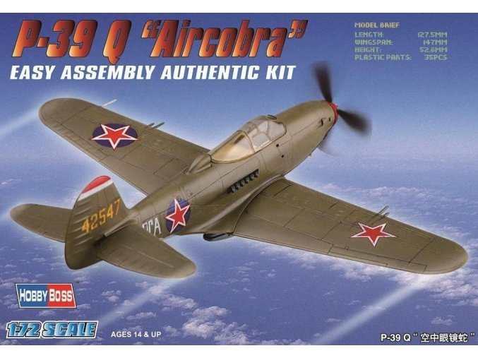 Hobby Boss P-39 Q Aircacobra 1:72 80240